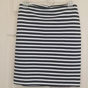 Merona Black & White Striped Skirt Size 2